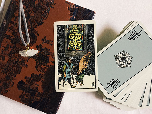 Five of Pentacles, Smith-Waite deck